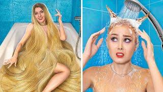 Thin Hair vs Thick Hair Problems! Rich Girl vs Broke Girl!