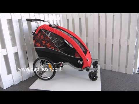 Rimorchio bicicletta per il trasporto di 1 bambino