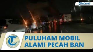 Viral Video Puluhan Mobil Alami Pecah Ban di Tol Jakarta-Cikampek, Jasa Marga Bertanggung Jawab