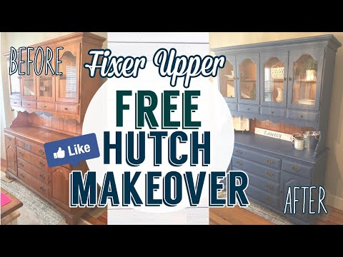 Fixer Upper Inspired Free Hutch Makeover Using DIY Chalk Paint| Painted Furniture DIY Mp3