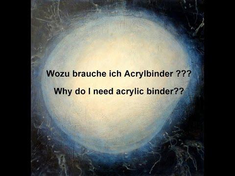 Acrylbinder - wie verwende ich ihn? / Acrylic binder - how to use