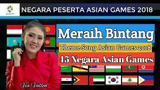 Meraih Bintang Versi 45 Negara Peserta Asian Games 2018 - Via Vallen || Cover Music Parody