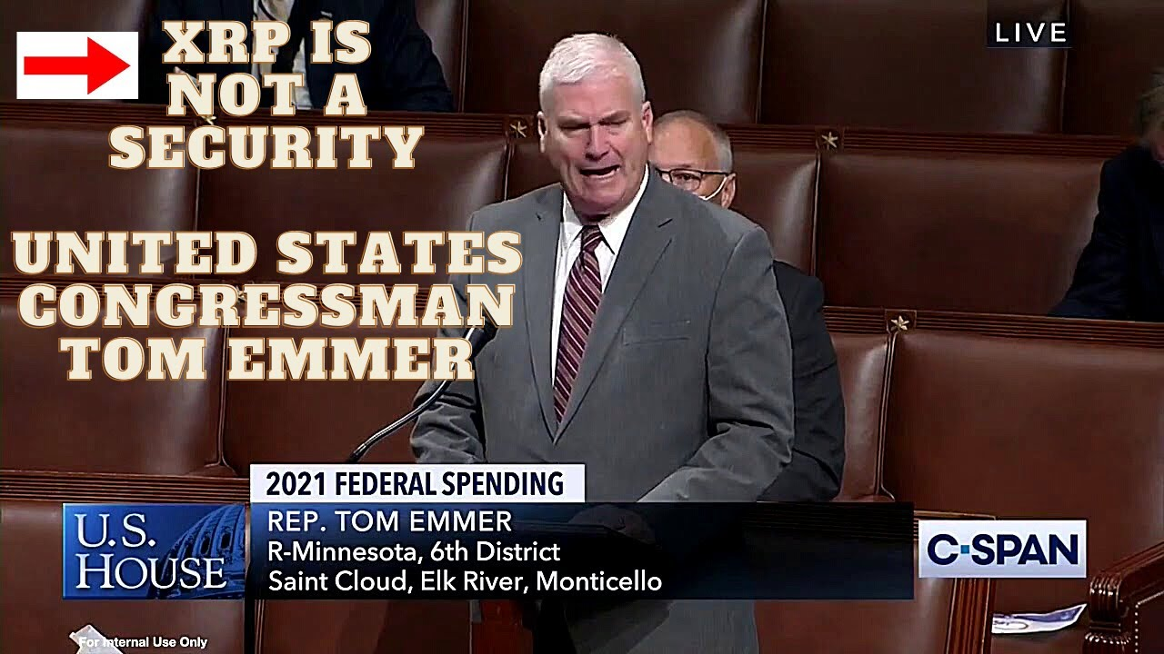 """XRP Is Not a Security"" US Congressman Tom Emmer Crypto Town Hall Meeting"