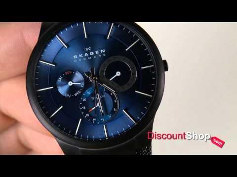 defc3426bd325 relogio skagen 809xltbn multifunção titanium black original. Carregando zoom .