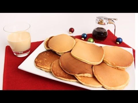 Eggnog Pancakes Recipe – Laura Vitale – Laura in the Kitchen Episode 692