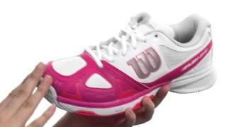 Wilson Rush Evo Women's Shoes Light Ultramarine video
