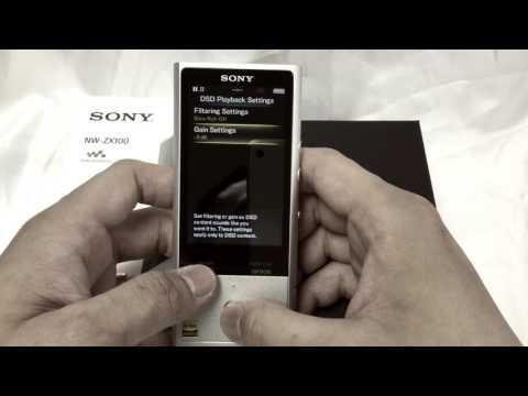 [實機操作影片] SONY NW-ZX100