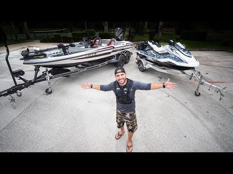 Turbo BassBoat VS. Supercharged Waverunner Fishing CHALLENGE!! (Surprising results)