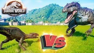 ИНДОРАПТОР vs ИНДОМИНУС РЕКС - Схватки Динозавров - Jurassic World EVOLUTION #5