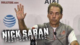 Hear what Nick Saban had to say following Alabama