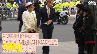 Meghan Markle's royal maternity style