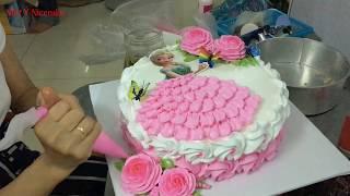 Bánh kem công chúa elsa - đơn giản với hình elsa có sẵn - cute cream elsa