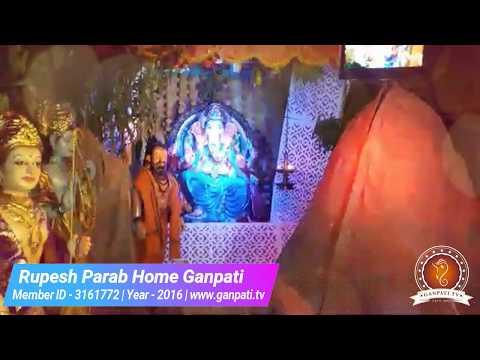 Rupesh Parab Home Ganpati Decoration Video