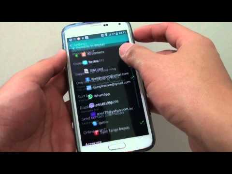 Samsung Galaxy S5: How to View Contacts Sync From Gmail