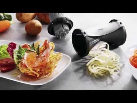 gefu spiralschneider spirelli v2 gem seschneider gem se nudeln zucchinispaghetti ebay. Black Bedroom Furniture Sets. Home Design Ideas