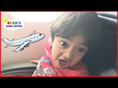 Family Fun Vacation! Kid React Airplane Trip to NYC Hotel Tour! Ryan's Family Review Vlog