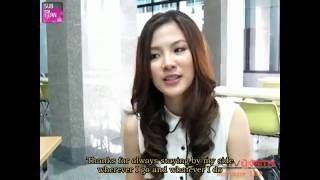 [ENG SUB] Baifern Thanks Thai And Overseas Fans Via The Interview With M-Lite (Nov 4, 2012)
