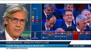Football: Tirage de la Coupe du Monde 2018 avec Rodrigo Beenkens