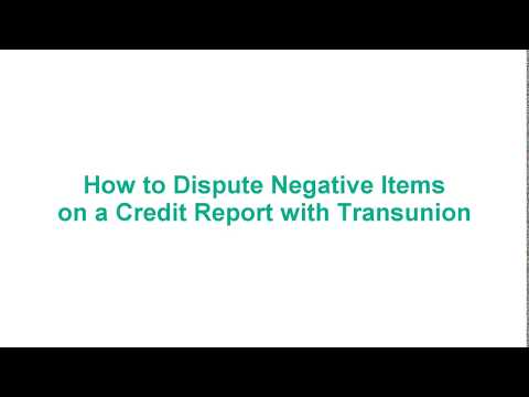 FIX YOUR OWN CREDIT - How to Dispute Negative Items on a Credit Report with Transunion