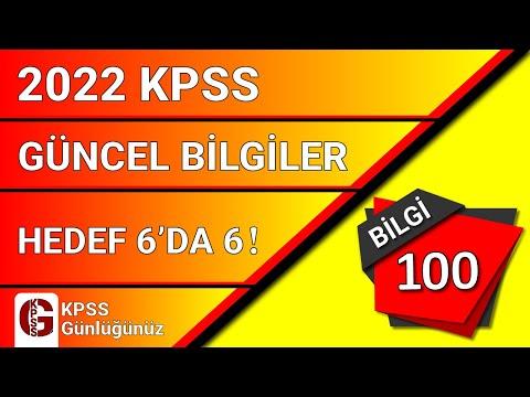 KPSS GÜNCEL BİLGİLER 100 BİLGİ