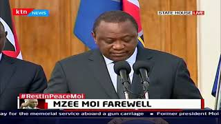 Uhuru pays tribute to former president Moi,describe him as a teacher who taught him for life