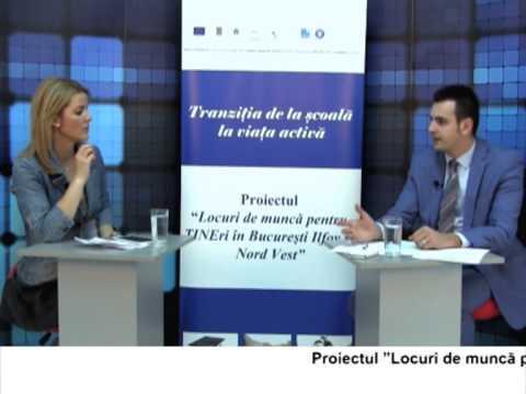 (VIDEO) Locuri de muncă pentru TINEri în București Ilfov și regiunea Nord Vest – VALENTIN VOICU (E15)