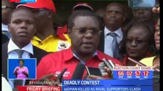One person is killed by a stray bullet after rival political groups clash in Bungoma