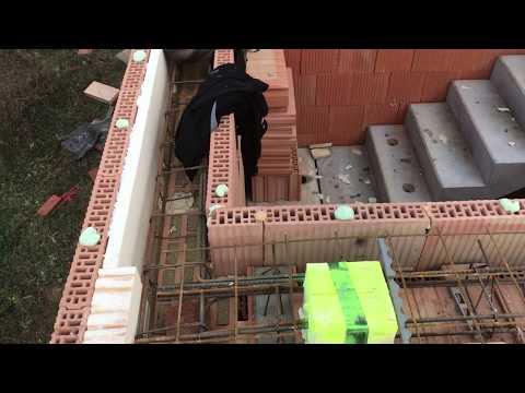 Strop Porotherm a prefabrikované schodiště - část 7.