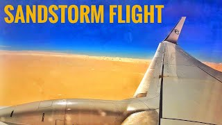 Flying over a SANDSTORM with Fly Egypt airline | desert storm in Hurghada