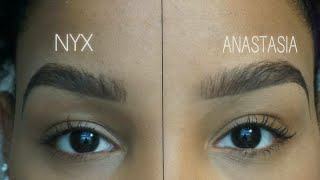 NYX vs. ANASTASIA Eyebrow Tutorial