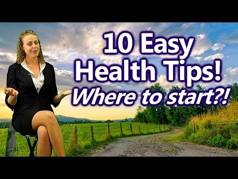 Video 10 Easy Ways to Get Healthy for Beginners, Where to Start? Nutrition Tips | Health Coach