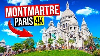 MONTMARTRE Paris, France 4K. (Walking tour from Sacre-Coeur to Moulin Rouge...)