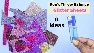 6 Creative Crafts From Waste Glitter Paper  Awesome Crafts From Glitter Paper Crafts
