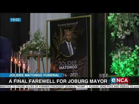 Jolidee Matongo Final farewell for Joburg mayor