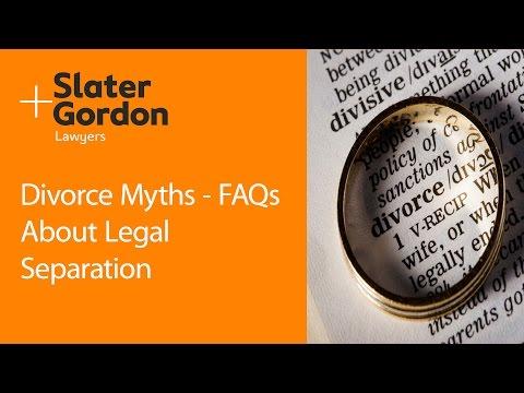 Divorce Myths - FAQs About Legal Separation