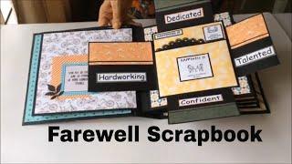 Farewell Cards for Colleague/Goodbye Cards/Handmade/DIY/Scrapbook  Ideas