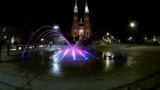preview picture of video 'Rybnik - Fontanna na deptaku oraz Bazylika św. Antoniego'