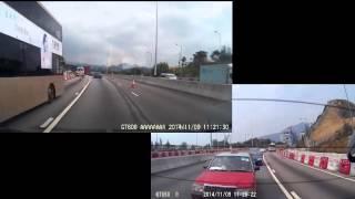Смотреть онлайн Рискованный водитель автобуса чуть не врезался