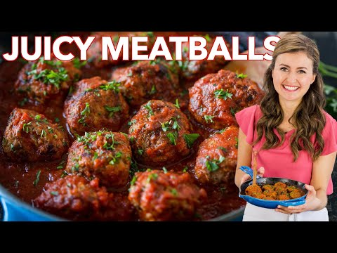 Juicy MEATBALL RECIPE – How to Cook Italian Meatballs