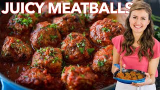 Juicy MEATBALL RECIPE - How To Cook Italian Meatballs