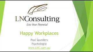 Create happier workplaces