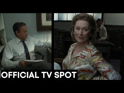 THE POST OFFICIAL 'DIG IN' TV SPOT - STREEP, HANKS, SPIELBERG