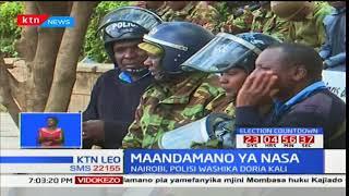 Maandamano ya NASA jijini Nairobi zagonga mwamba polisi wakiwazuia wakosi kufika afisi za IEBC