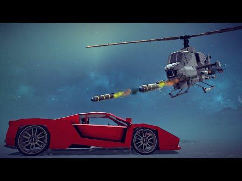 AH-1W Super Cobra Hunting Down Cars   Besiege