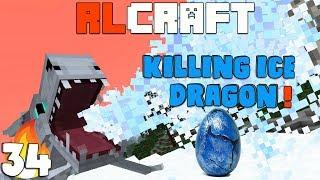 "RLCraft : ""Killing Ice Dragon"" Ep 34 Hardest Modpack wt Akan22 ""Minecraft Hindi"""