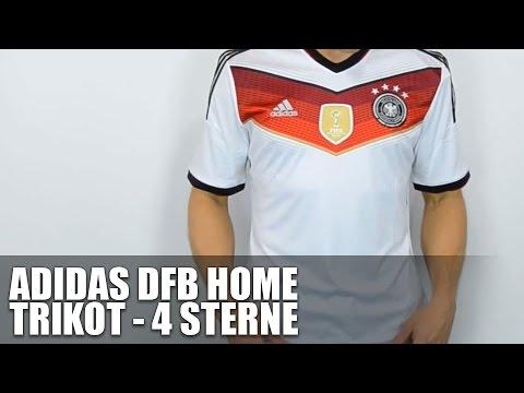 Deutschland Trikot mit 4 Sterne - Heim - Review