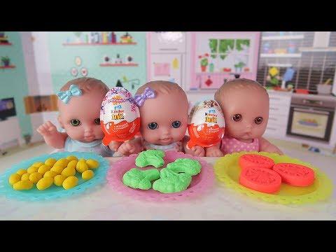 Куклы пупсики/ готовим обед из овощей плей до, открываем сюрпризы Фиксики, Суперсемейка/Зырики ТВ