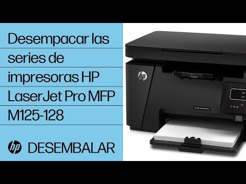 Desempacar las series de impresoras HP LaserJet Pro MFP M125-128
