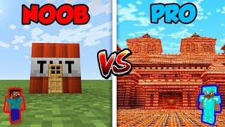 Minecraft NOOB vs. PRO: TNT HOUSE in Minecraft!