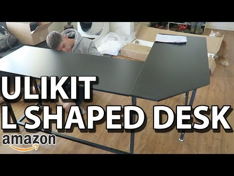 Ulikit L Shaped Office Gaming Desk – Unboxing & Review | AMAZING QUALITY
